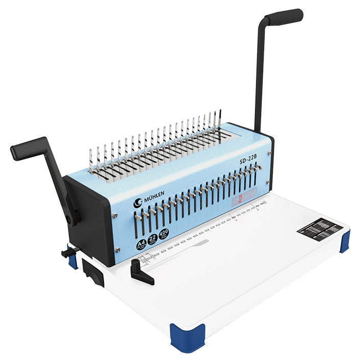 4-Mühlen-SD-22B-Spiral-Plastik-Ciltleme-Makinesi-k