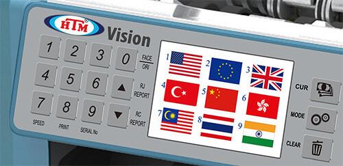 HTM Vision Dokunmatik ve işlevsel menüler