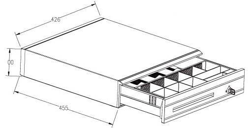 Mühlen Schublade EU 3550-S Para Çekmecesi - Normal Yoğun Kullanıma Uygun-10