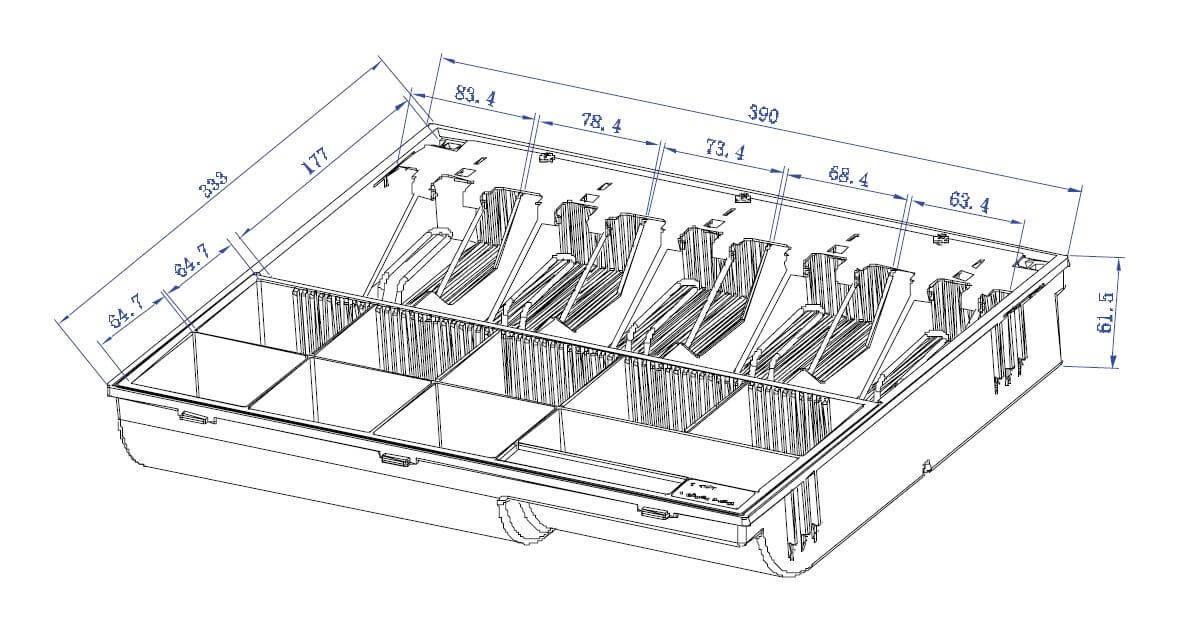 Mühlen Schublade EU 3550-S Para Çekmecesi - Normal Yoğun Kullanıma Uygun-11