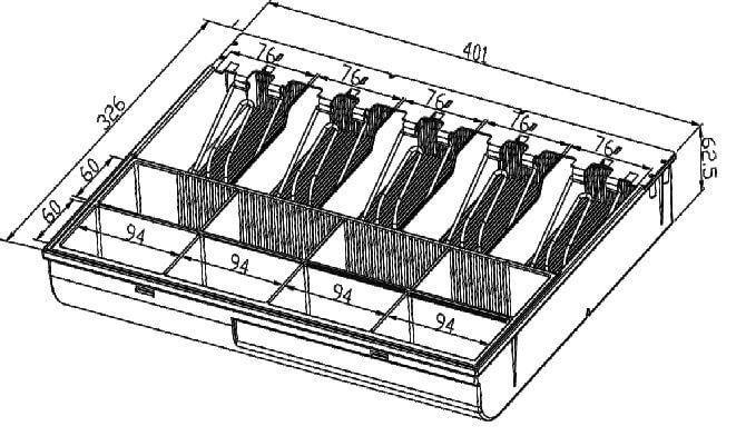 Mühlen Schublade EUP 5555 Para Çekmecesi - Yoğun Kullanıma Uygun - 10