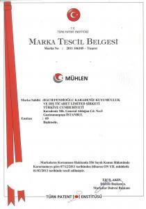 MÜHLEN MARKA TESCİL BELGESİ
