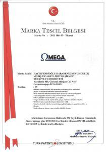 OMEGA MARKA TESCİL BELGESİ