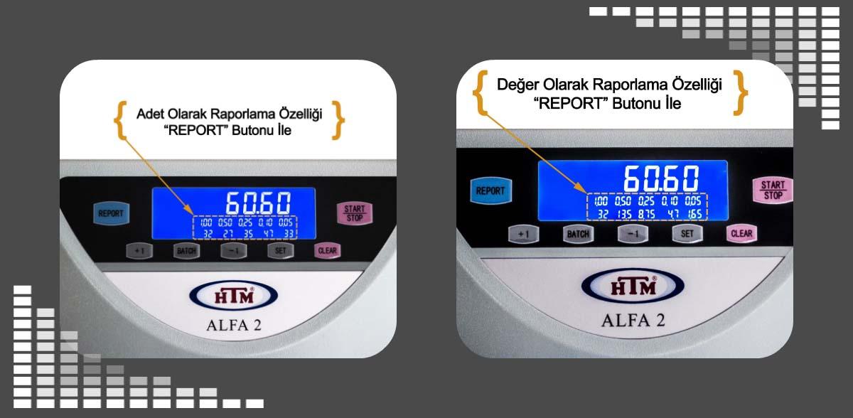 HTM Alfa 2 Madeni Para Sayma Makinesi - Ekran