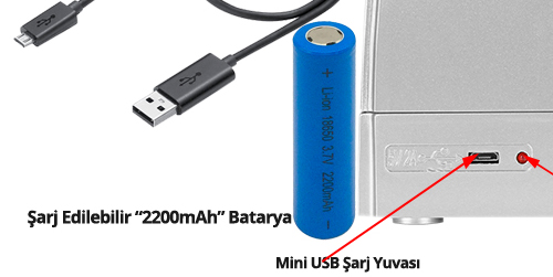 HTM Violet Smart Bataryalı Sahte Para Kontrol Cihazı Mor Işık 7