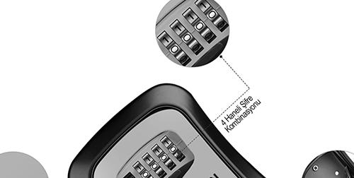 MÜHLEN Safe-Key 3 Duvara Montaj Şifreli Anahtar Saklama Kasası / Kutusu 14