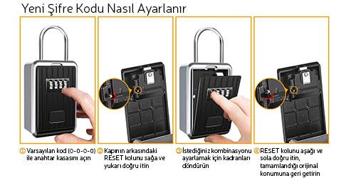 MÜHLEN Safe-Key 7 ASKILI & ŞİFRELİ ANAHTAR KASASI 9