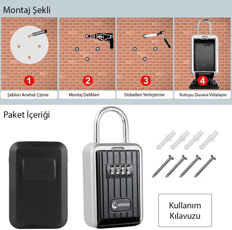 MÜHLEN Safe-Key 7 ASKILI & ŞİFRELİ ANAHTAR KASASI 4
