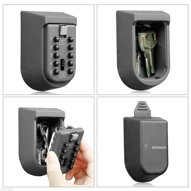 MÜHLEN Safe Key 9 | 10 Numerik Butonlu Şifreli Çelik Anahtar Kasası-2
