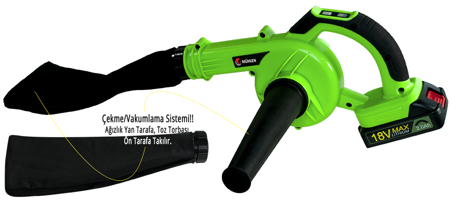 MÜHLEN RC1010 Bataryalı & Mobil Portatif Hava Üfleme Kompresörü 5