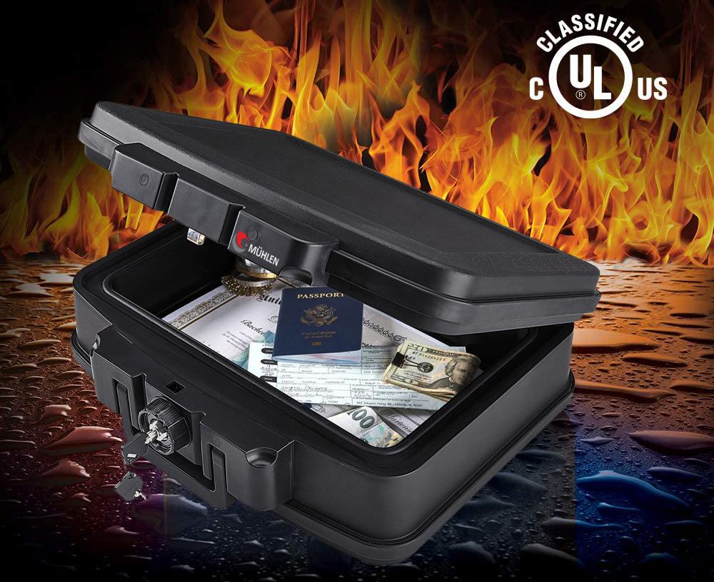 MÜHLEN Fire Bag YG75 Ateşe ve Suya Dayanıklı Portatif Çelik Para Çantası / Kasası 8