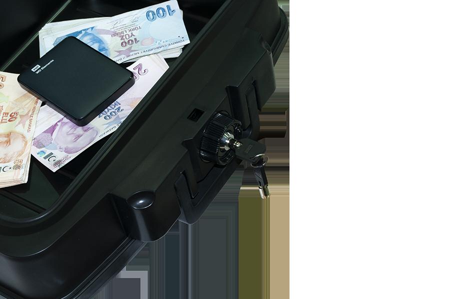 MÜHLEN Fire Bag YG85 Ateşe ve Suya Dayanıklı Portatif Çelik Para Çantası / Kasası 3