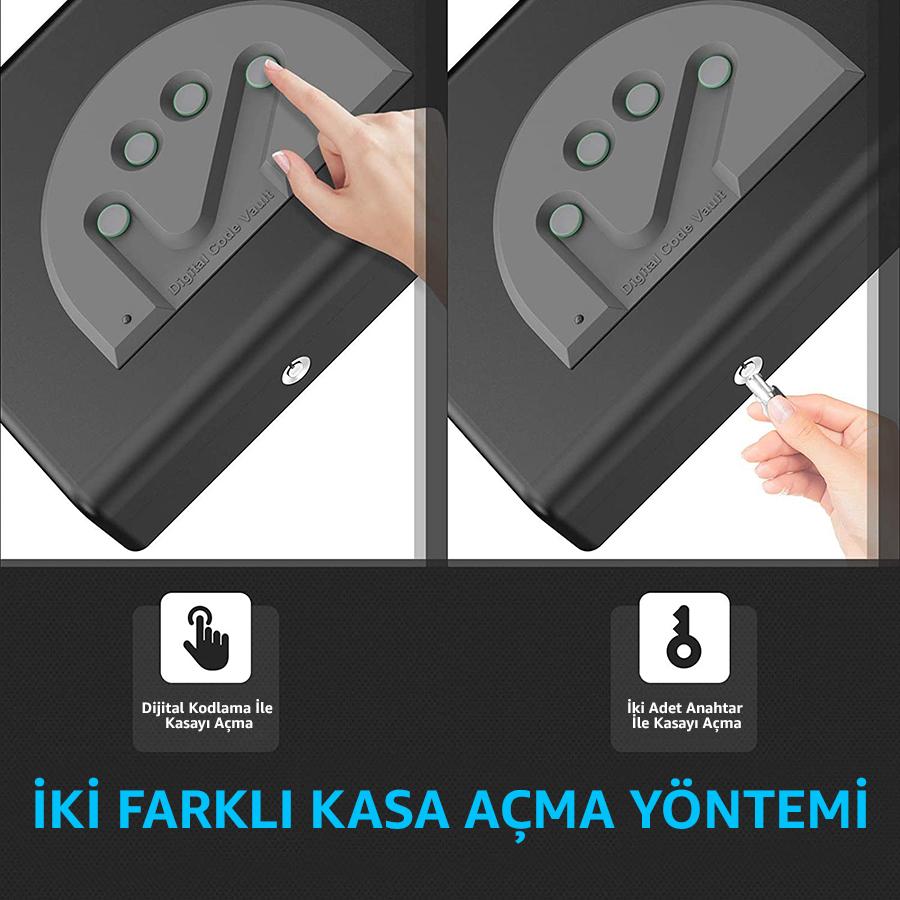 MÜHLEN Gun Safe 15D Dijital Şifreli Portatif Silah Kasası 4