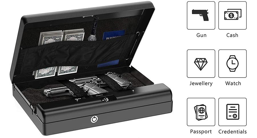 MÜHLEN Gun Safe 15D Dijital Şifreli Portatif Silah Kasası 5