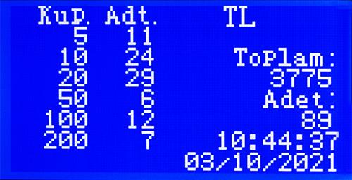 HTM Atom 3 Karışık Para Sayma Makinesi 7