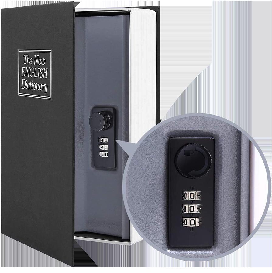 MÜHLEN Secret Safe 240 Büyük Boy Kitap Şekli Gizli & Şifreli Para ve Değerli Eşya Kasası 1