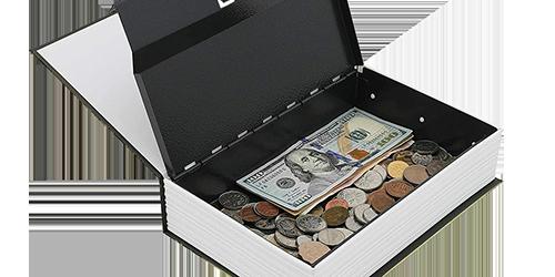 MÜHLEN Secret Safe 240 Büyük Boy Kitap Şekli Gizli & Şifreli Para ve Değerli Eşya Kasası 10