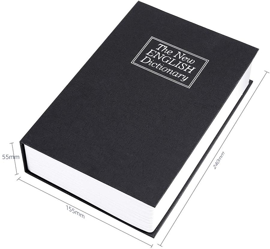MÜHLEN Secret Safe 240 Büyük Boy Kitap Şekli Gizli & Şifreli Para ve Değerli Eşya Kasası 2