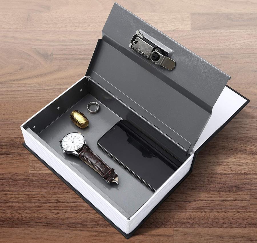 MÜHLEN Secret Safe 240 Büyük Boy Kitap Şekli Gizli & Şifreli Para ve Değerli Eşya Kasası 3