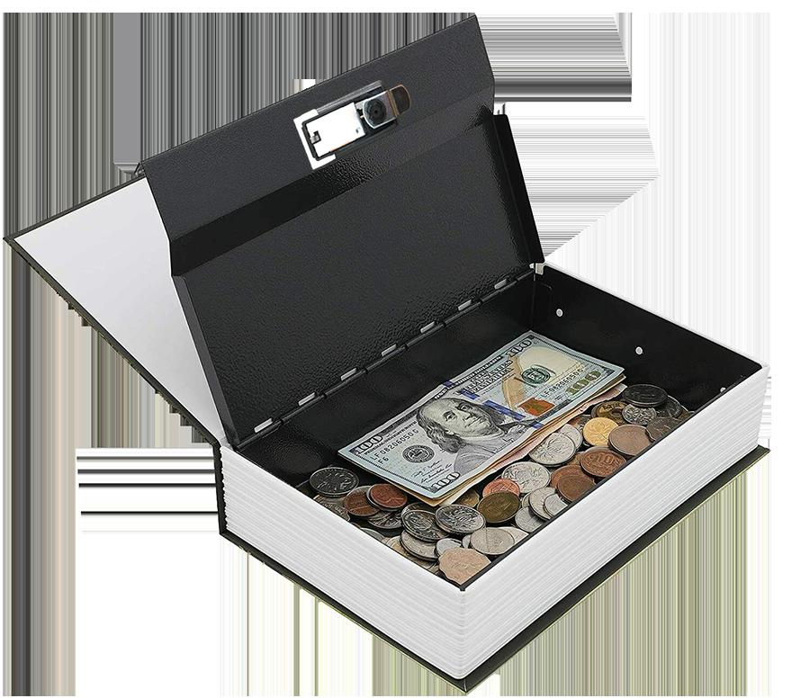 MÜHLEN Secret Safe 240 Büyük Boy Kitap Şekli Gizli & Şifreli Para ve Değerli Eşya Kasası 6