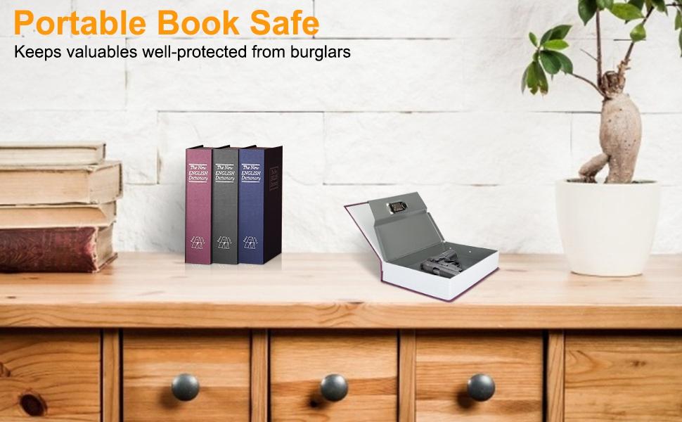 MÜHLEN Secret Safe 240 Büyük Boy Kitap Şekli Gizli & Şifreli Para ve Değerli Eşya Kasası 8