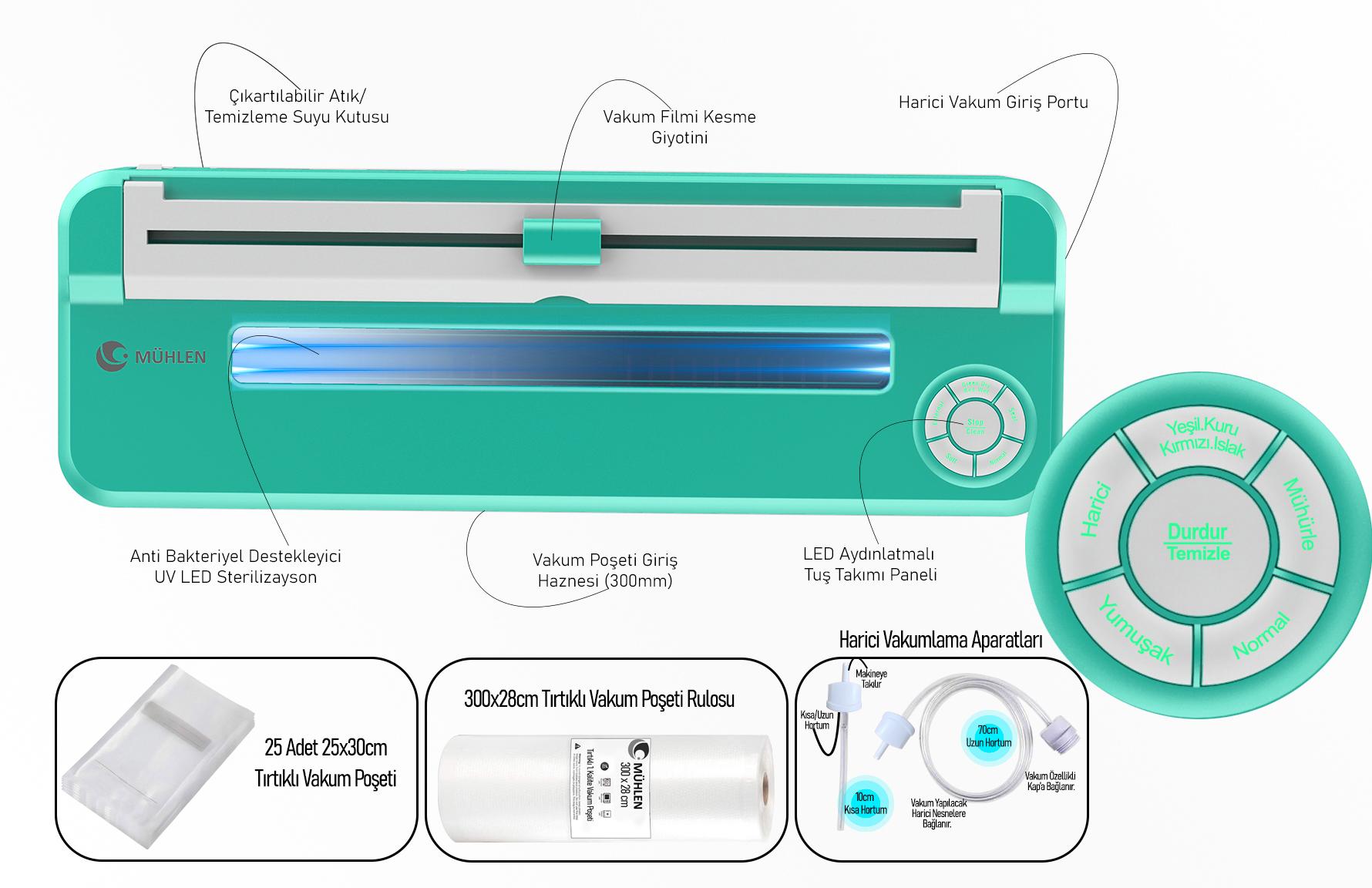 MÜHLEN V67 Tam Otomatik Gıda Vakum Makinesi 2