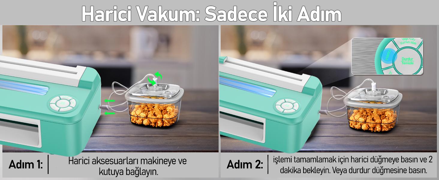 MÜHLEN V67 Tam Otomatik Gıda Vakum Makinesi 5