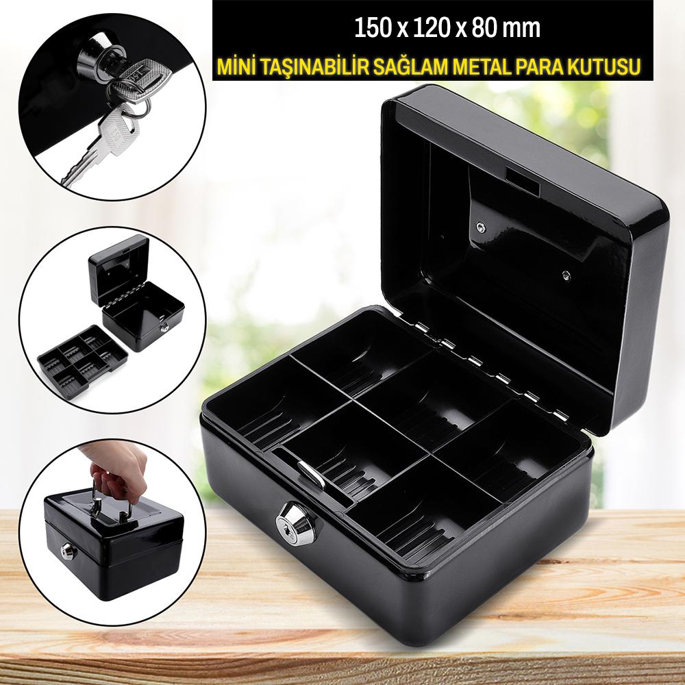 MÜHLEN Cash Box CB150 Mini Boy Taşınabilir Para Kutusu 4