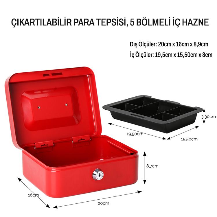 MÜHLEN Cash Box CB200 Orta Boy Taşınabilir Para Çekmecesi 2
