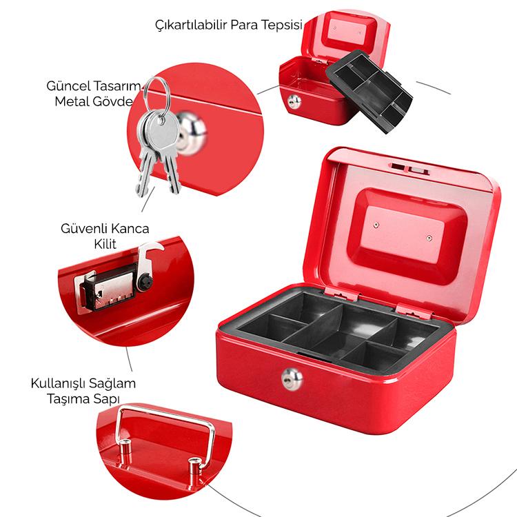 MÜHLEN Cash Box CB200 Orta Boy Taşınabilir Para Çekmecesi 7