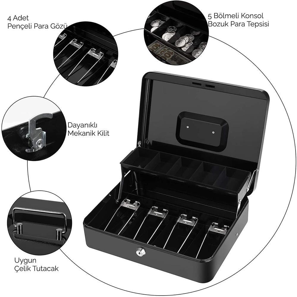 MÜHLEN Cash Box CB300 Fonksiyonel Taşınabilir Para Çekmecesi 5
